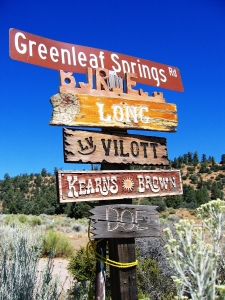 Signs -- Greenleaf Springs