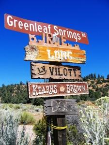 Signs -- Greenleaf Springs