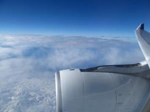 Rocket Ship over Clouds
