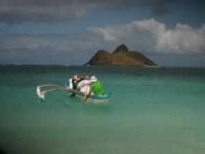 Canoe off Lani Kai