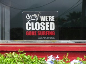 Signs! Gone Surfing