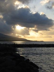 Kaunakakai Wharf Sunrise 3-05