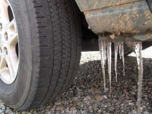 Icycles Under my Jeep