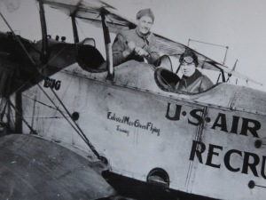 That's both Grandfather and Grandmother on a recruiting tour for the U.S. Army Air Service.