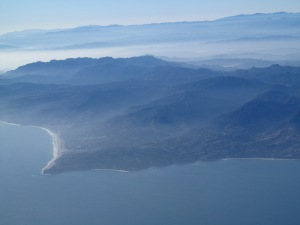 Malibu Mountains, Zuma Beach and Point Dume.