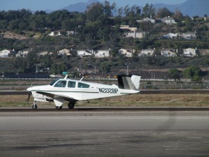 V-Tail Beechcraft Bonanza — same style as Dad's.